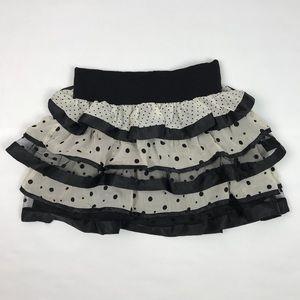 Forever 21 • Ruffled Polka Dot Mini Skirt
